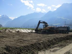 Alp Transit Gotthard Nord, Rekultivierungsarbeiten Phase II, Schattdorf und Erstfeld